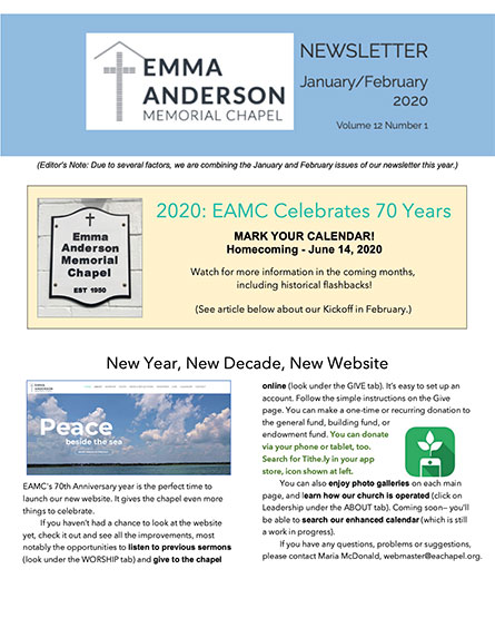 January/February 2020 Newsletter